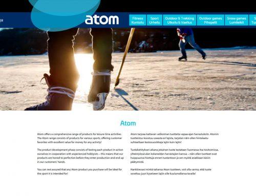 Atom-tuotemerkille uudet nettisivut
